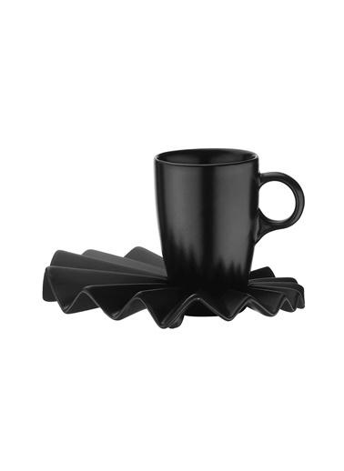 Kütahya Porselen Kütahya Porselen Adora 4Lü Kahve Takımı Mat Siyah
